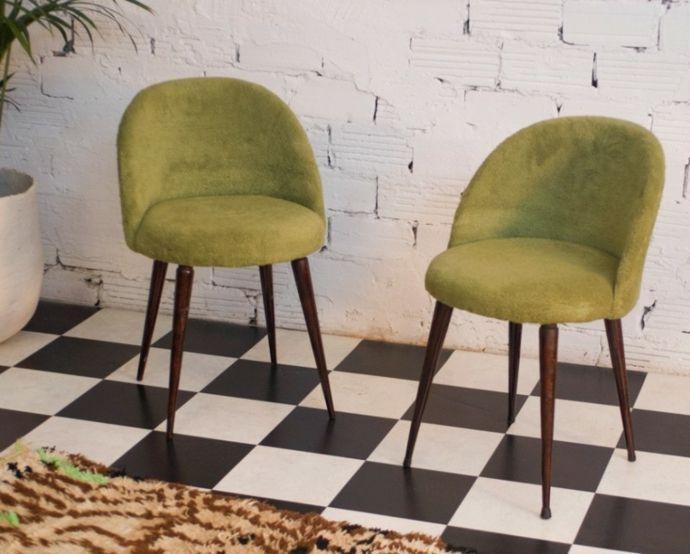 Schachbrett Muster Bodenbelag Schwarz Weiß Grün Stuhl
