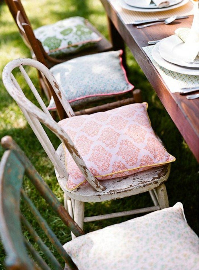 Schicke chic Sitzkissen Gartenmöbel-Stuhlkissen
