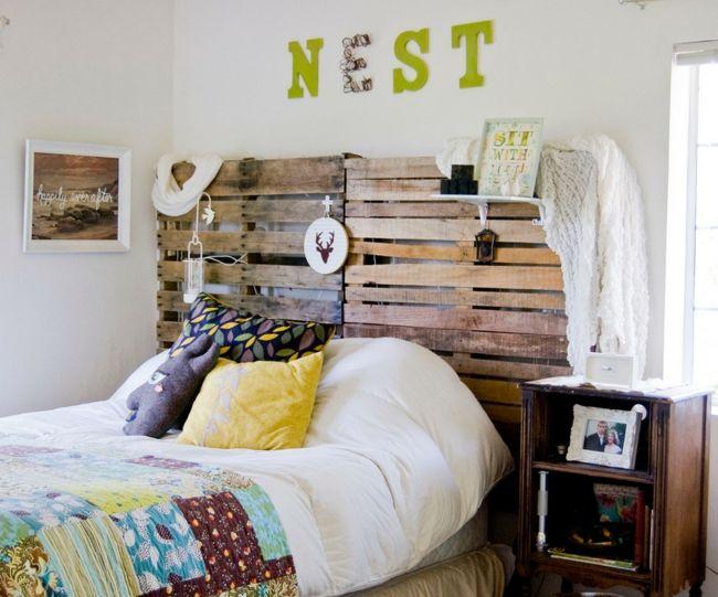 Schlafzimmer, Europaletten, Gelb als Trendfarbe-Einrichtungstrends