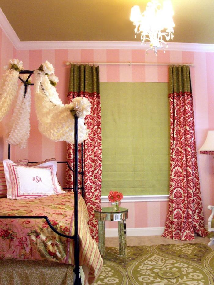 Schlafzimmer in Rosa im französischen Stil-Jugendschlafzimmer Mädchen