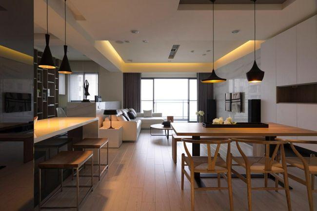 Schlichte Linien und klares Design-Zeitgenössische Raumideen-Sitzecke Küche Ideen