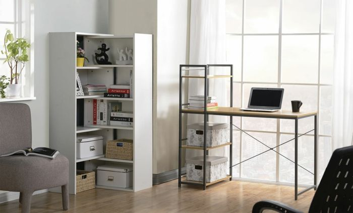 Schlichte und moderne Gestaltung des Heimbüros-moderne praktische praktische Büromöbel Büroarbeitsplatz Schreibtisch schöne Dekoration Ideen