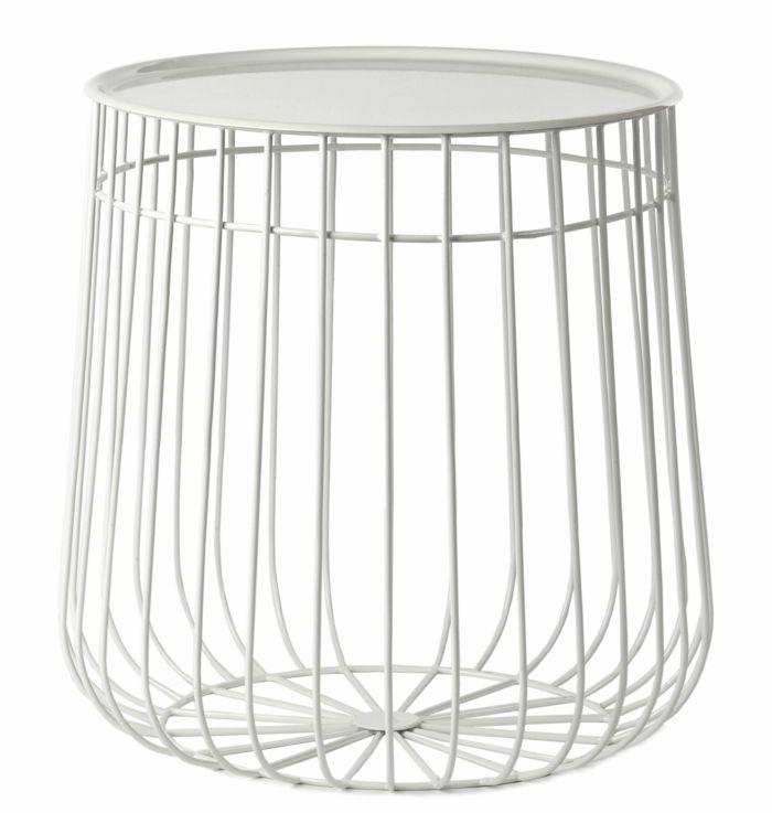 Schlichtes Design in Weiß und abnehmbare Tischplatte-Innovation innovative Möbel Beistelltisch abnehmbare Tischplatte Ablage Zeitschriften
