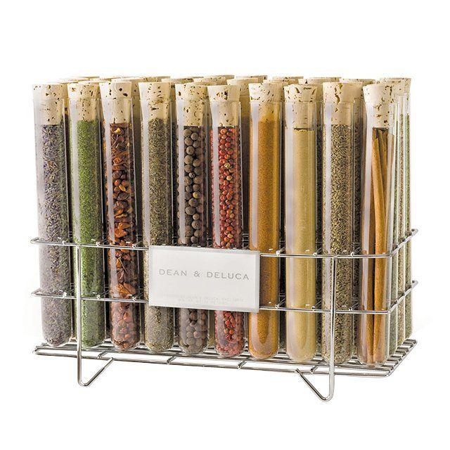 Schnittiger Gewürzbehälter-Set bietet Funktionalität und Design-Gewürzregal Glasbehälter