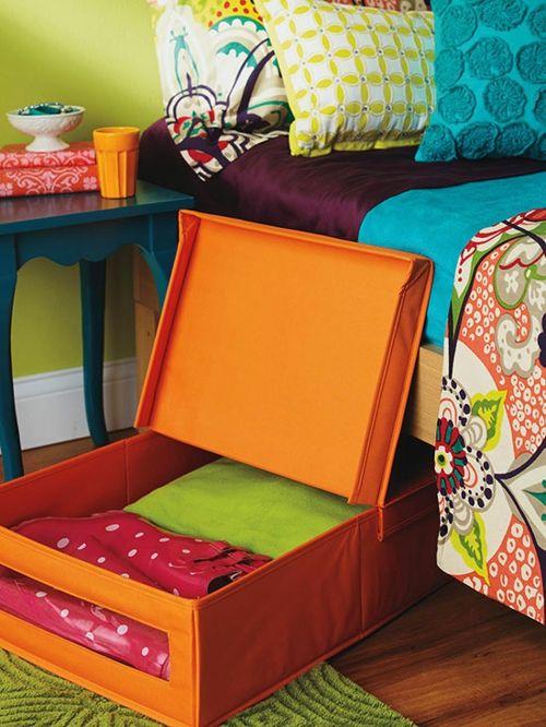 Selten getragene Kleidung unter dem Bett verstauen-Entrümpelung Ordnung Schlafzimmer Stauraum Aufbewahrung Aufbewahrungsbox