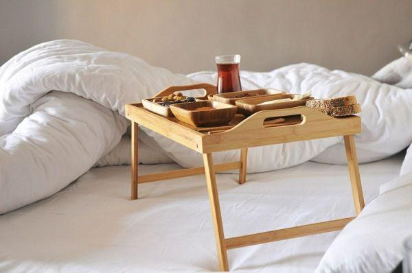 Servierbrett aus Bambus für ein gemütliches Frühstuck am Sonntag-Bambus Dekoration