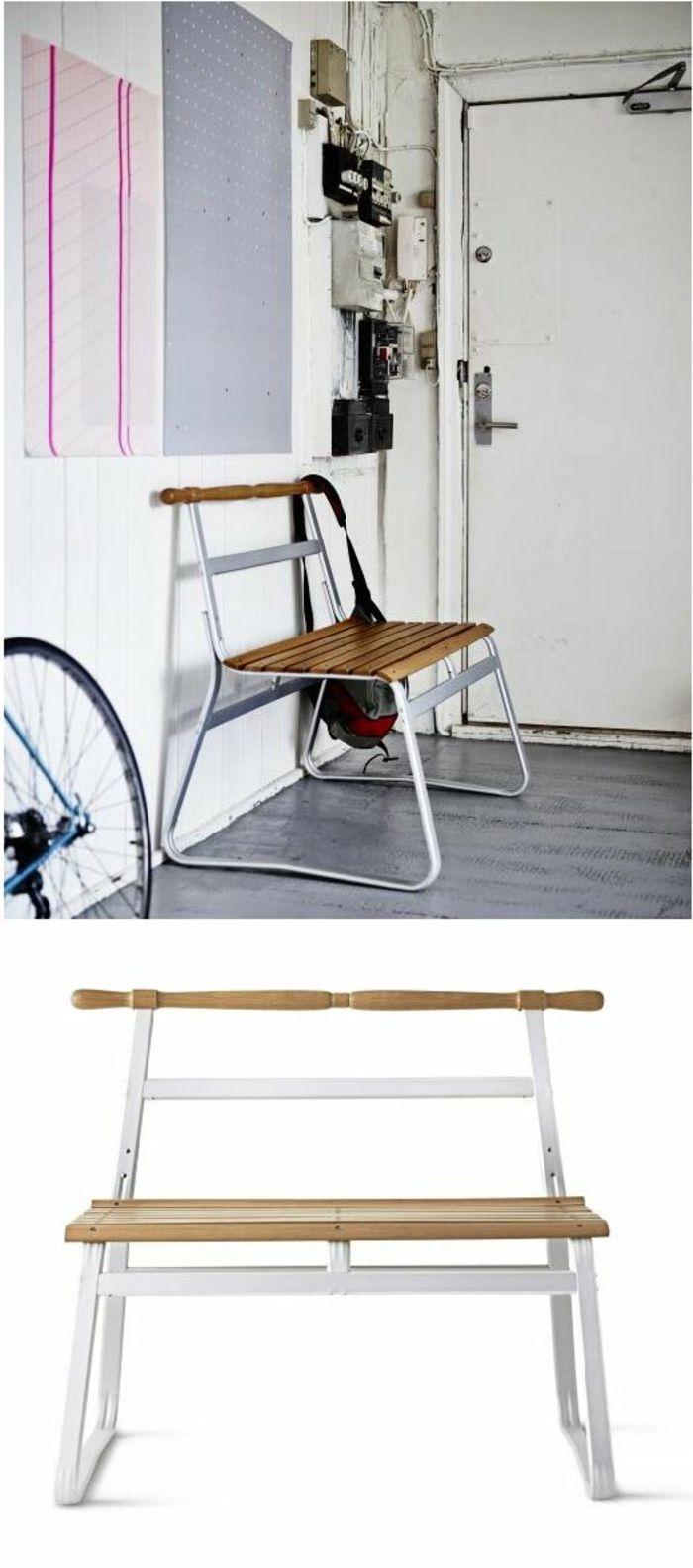 Sitzbank aus Holz für den Flur kreativ modern-Dielenmöbel