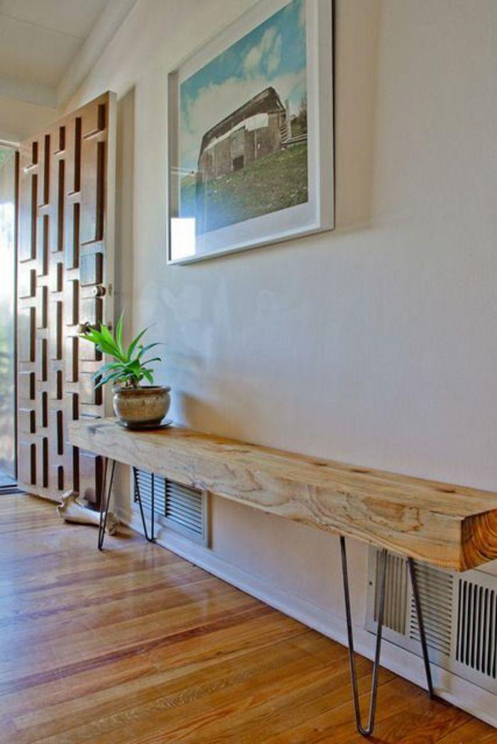 Sitzbank aus Holz modern rustikal-Dielenmöbel