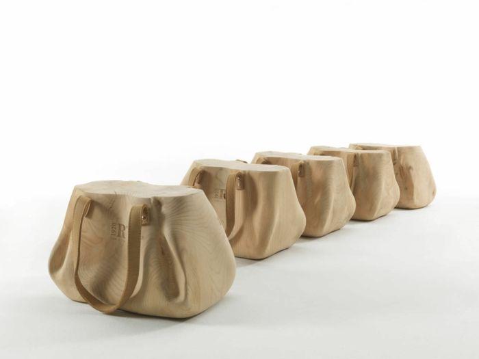 Sitzhocker in Form einer Damentasche-ungewöhnliche Form Designermöbel moderner Hocker Sitzmöbel originelles Design