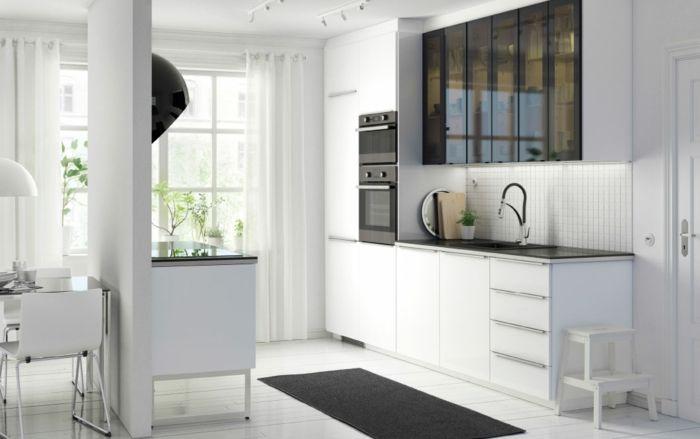 Stilvolle Glastüren in Hochglanz Mattglas Weiß modern-Küchenregale mit Glastüren