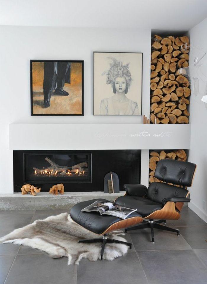 Brennholzregal wohnzimmer  Moderne Ideen zur schicken Holzaufbewahrung - Trendomat.com