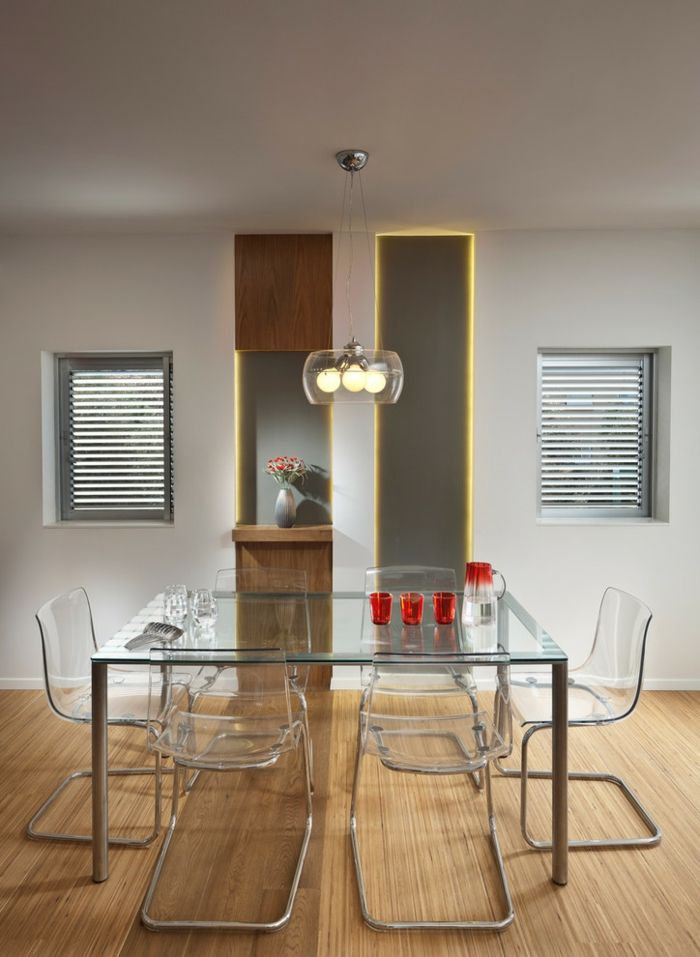 Stilvolles Ambiente im Essbereich erreichen-Glastisch Esstisch Esszimmer Küche Möbelwahl