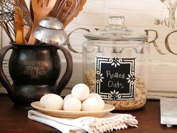 Tafelfarbe Etikett Aufkleber zum Beschriften-Kreidetafel in Küche
