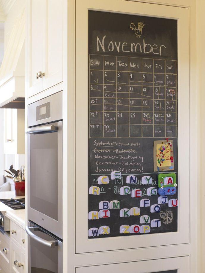 Tafelwand Magnetboard Kalender Küche-Kreidetafel in Küche