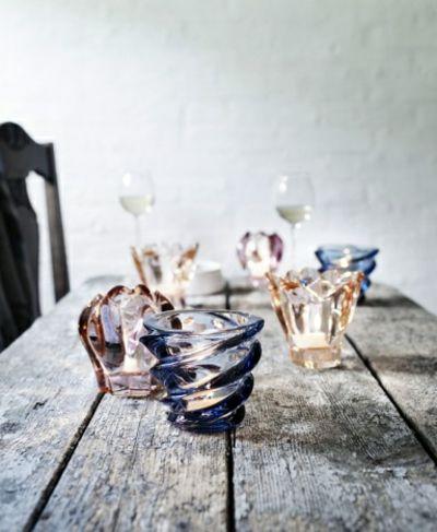 Teelicht Halter aus Farbglas-Teelichthalter