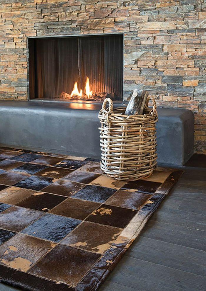 Teppich aus Leder-Exotische Teppichideen