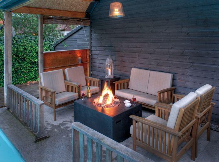 Terrassen- und Gartenfeuer-Dekoration für den garten