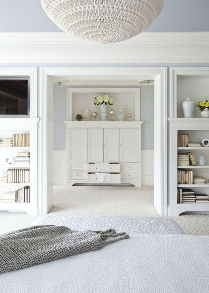 Traditionelle Einrichtung in Weiß-Eklektisches Design Schlafzimmer
