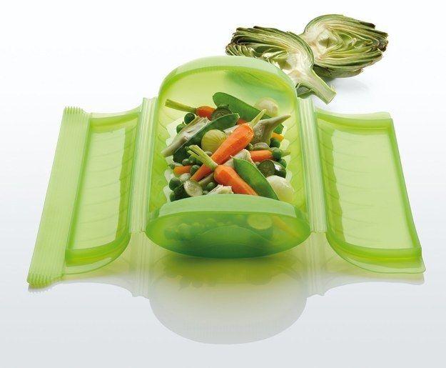 Trendige Dampfgarbox fürs Büro-Mikrowellengeschirr Küchenhelfer Lunchbox Silikone