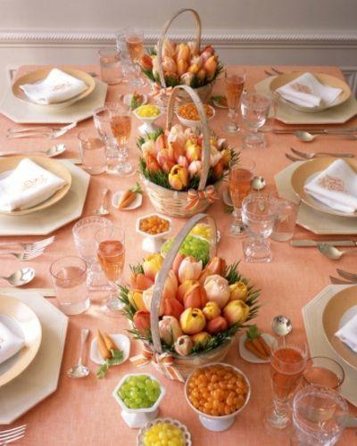 Tulpen echte Blumen Tisch Deko-Tisch Dekoration Ostern