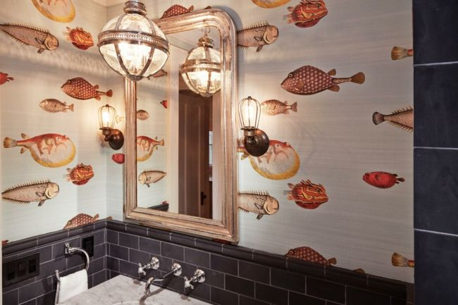 Unterwasserwelt im luxuriösen Badezimmer-Badezimmer Tapete