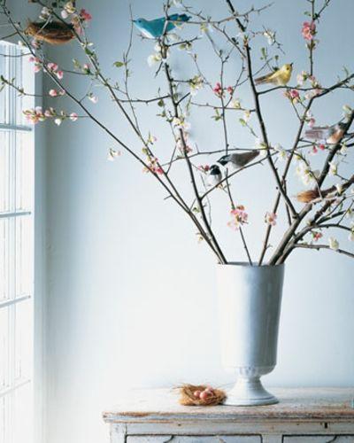 Vögel aus Krepppapier-Deko Ideen Ostern