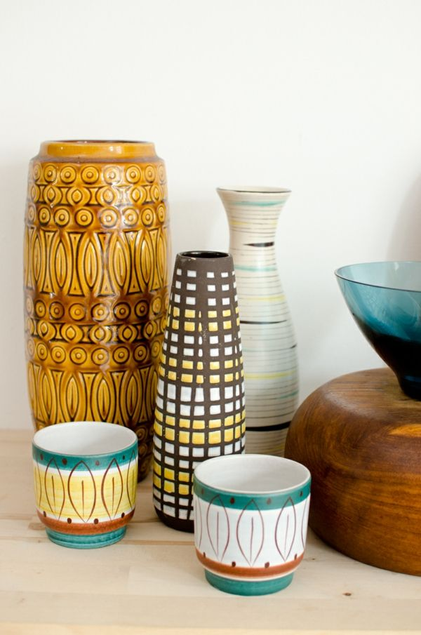Vase im skandinavischen 50er Jahre Look- Skandinavisches Design