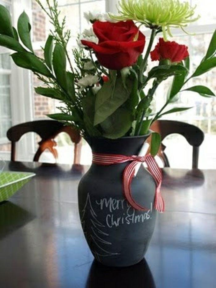 Vase mit Tafelfarbe-Moderne Ideen für Vasen DIY