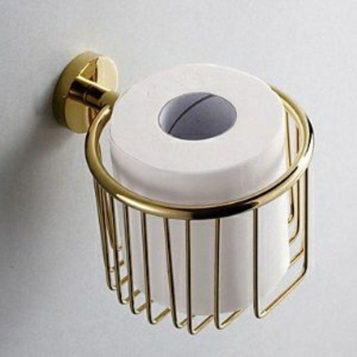 Vintage Toilettenpapierhalten aus Messing-Einzigartige Deko Ideen Badezimmer
