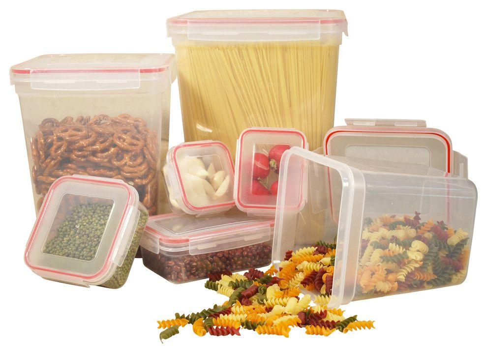 Vorratsdosen aus Kunststoff mit Deckel-Vorratsbehälter Kunststoff Produkte Lebensmittel Organisation Küche Speisekammer