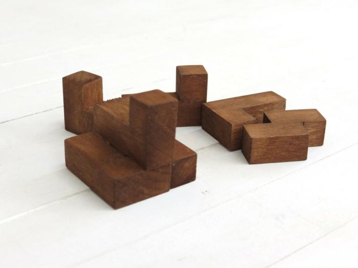 Würfelpuzzle Holz