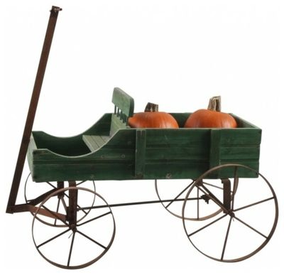 Wagen im amerikanischen Stil -Gartendekoration