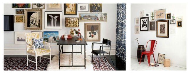 Wanddekoration, Bilderrahmen, Stuhl in Rot, Stuhl in Schwarz-Schöne Deko-Ideen