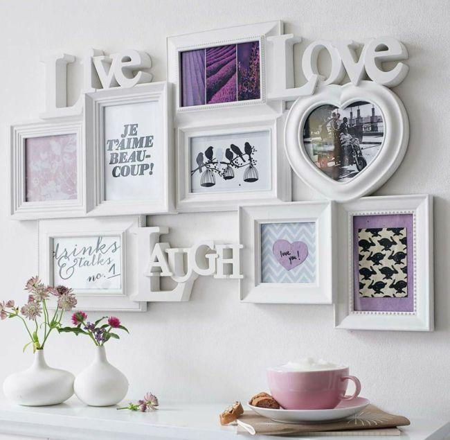 Wanddekoration, Bilderrahmen, Tasse in rosa-Schöne Deko-Ideen