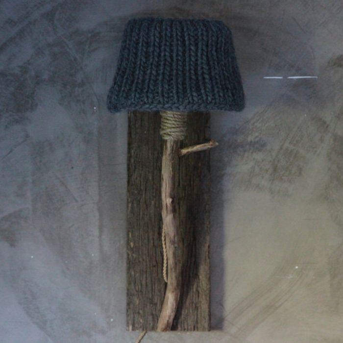 Wandleuchte im Schlafzimmer-Gestrickter Lampenschirm