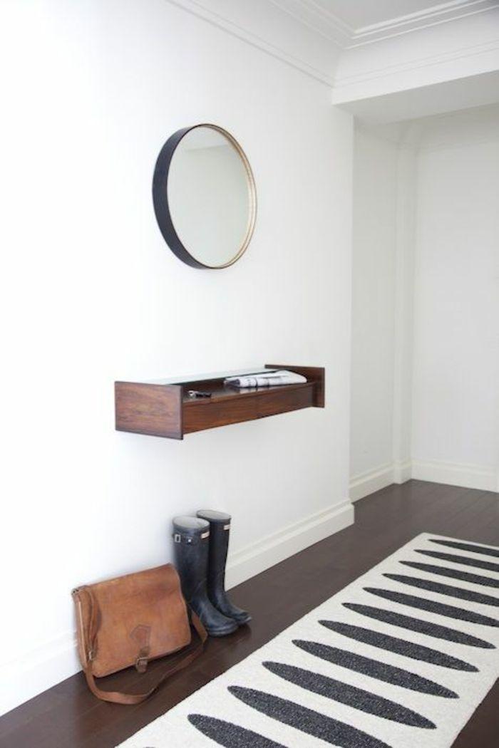 Wandregal Spiegel rund modern-Dielenmöbel