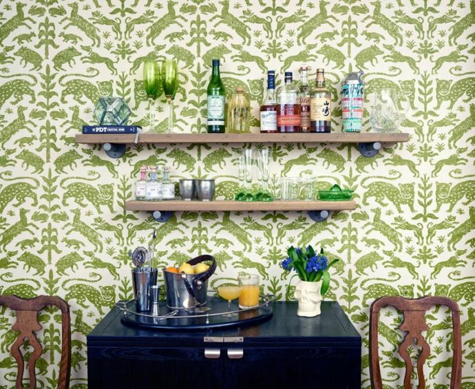 Wandregale modern Hausbar-Küchen offene Regale