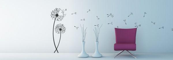 Wandschablone Pusteblume für das Wohnzimmer-idee schablone