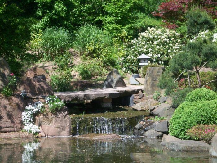 Wasser gehört unerlässlich zum japanischen Garten-Gartengestaltung