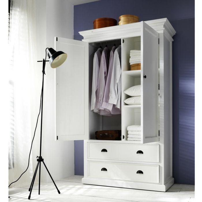 Weiße Garderobe Landhausstil-Hochwertige Kleiderschränke für das Schlafzimmer