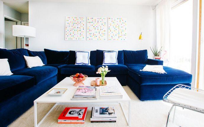 wohnzimmer modern blau | badezimmer & wohnzimmer, Moderne deko