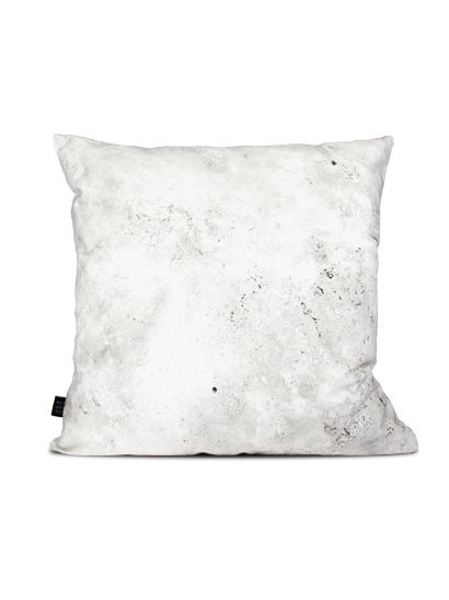 Weißer Deko Kissen in Beton-Optik-Deko Kissen mit Druck Fotodruck Kissenhülle einzigartig bedruckt