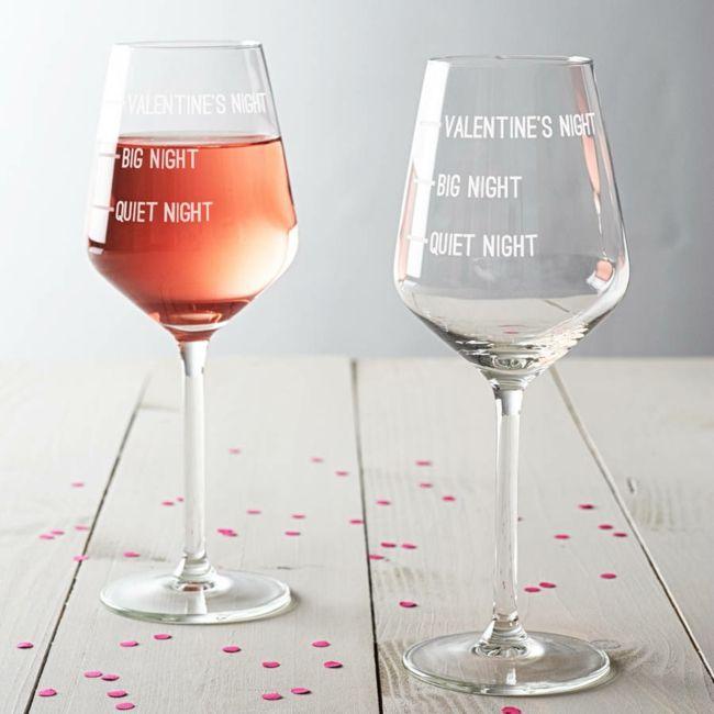 Weingläser für Valentinsnacht-Valentinstag Geschenk Ideen