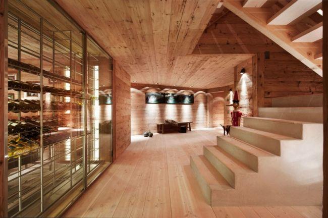 Weinkeller aus Holz-Weinregale Holz Holzfront Design Gestaltung