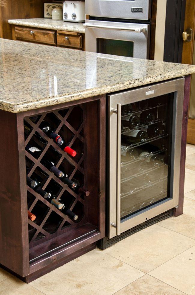 Weinlagerung in der Küche-Weinregal Holz Design modern Idee
