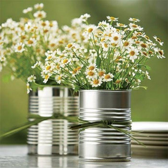 Wiederverwendung von Dosen-Moderne Ideen für Vasen DIY