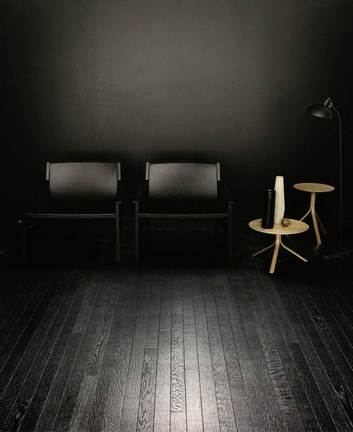 Wohnzimmer Möbel und Holzboden in Schwarz-Deko Wohnzimmer