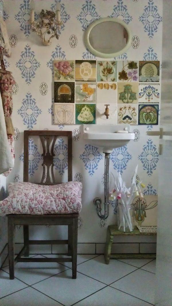 Wunderschöne Schablonen für das Badezimmer-idee schablone