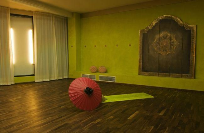 Yogaraum, Holzboden