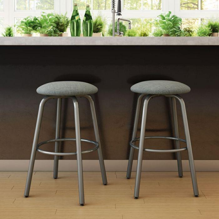 Zeitgenössische Barstühle Aluminium Füße-Barhocker für Ihre Küche